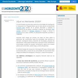 ¿Qué es Horizonte 2020? / Horizonte2020
