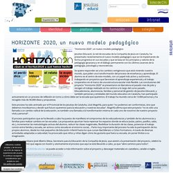 HORIZONTE 2020, un nuevo modelo pedagógico