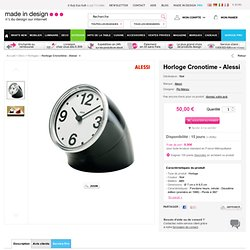 Cronotime - Montre de table Noir | Montre de table Alessi - Pio Manzu