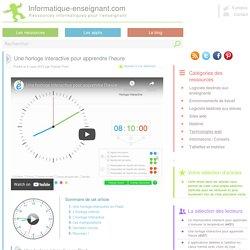 Une horloge interactive A TELECHARGER pour apprendre l'heure