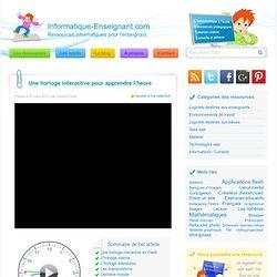Horloge interactive pour apprendre l'heure