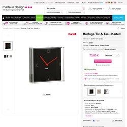 Horloge murale Kartell- Philippe Starck- Eugeni Quitllet