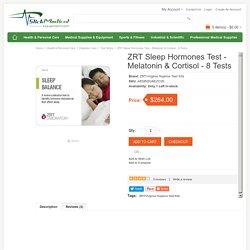 Buy online Latest ZRT Sleep Hormones Test - Melatonin & Cortisol - 8 Tests on slickmedicalequipment.com