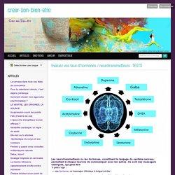 Evaluez vos taux d'hormones / neurotransmetteurs -TESTS