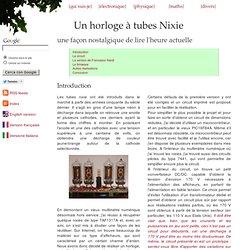 Un horologe à tubes Nixie, version 1.0 - Davide Bucci