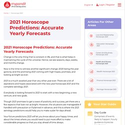 Horoscope 2021: Accurate Yearly Forecasts