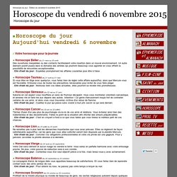 Horoscope : Horoscope du jour