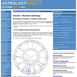 Canada horoscope · Canada natal chart · Mundane astrology