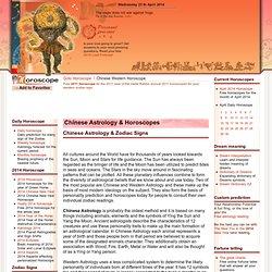 Chinese Astrology Horoscope Wisdom of Chinese & Western Horoscopes Correlation