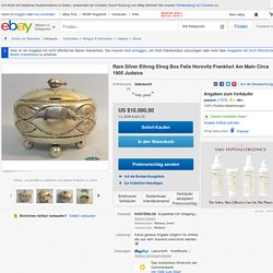 Rare Silver Ethrog Etrog Box Felix Horovitz Frankfurt Am Main Circa 1905 Judaica