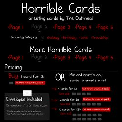 Horrible Cards for Valentines Day - The Oatmeal - StumbleUpon