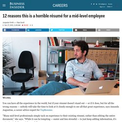 12 reasons this is a horrible résumé for a mid-level employee