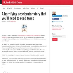 A horrifying accelerator story that you'll need to read twice
