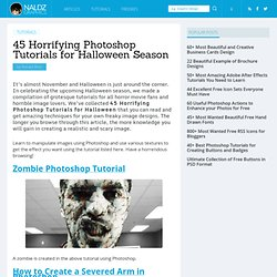 45 Horrifying Photoshop Tutorials for Halloween Season | Naldz Graphics