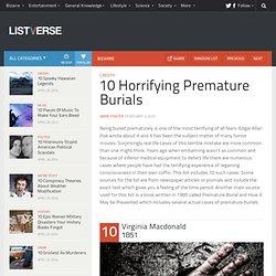 10 Horrifying Premature Burials