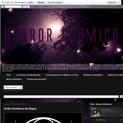 Horror Cósmico : Orden Esotérica de Dagon