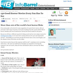 Good Horror Movies Every Fan Has To See - InfoBarrel