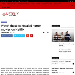 Horror Movies On Netflix