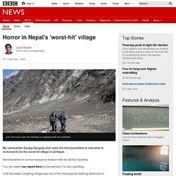 Horror in Nepal's 'worst-hit' village - BBC News