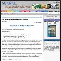 Rumeur vs science - 296 Hors-série 11 septembre - juin 2011