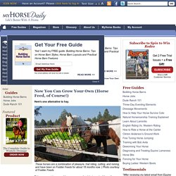 Now You Can Grow Your Own (Horse Feed, of Course!)