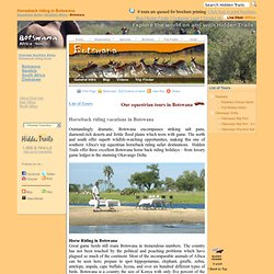 Horseback Riding Vacations Botswana Horse Riding Safaris Africa