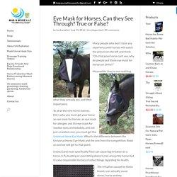 Eye Mask for Horses - mhssuperblog