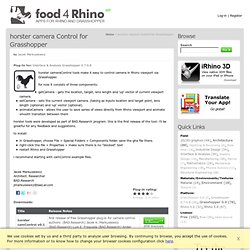 horster camera Control for Grasshopper | Food4Rhino