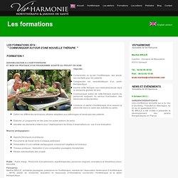 les formations : horthithérapie et JARDIN THÉRAPEUTIQUE.