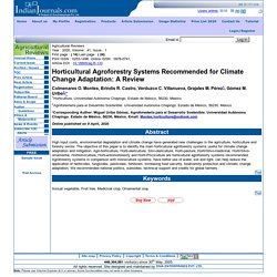 INDIAN JOURNALS - 2020 - Horticultural Agroforestry Systems Recommended for Climate Change Adaptation: A Review ;