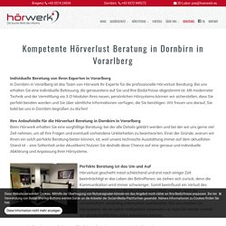 Hörverlust Beratung in Dornbirn in Vorarlberg