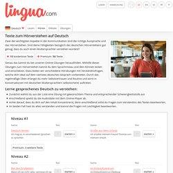 Deutsch Hörverständnis: Deutsche Texte hören und verstehen