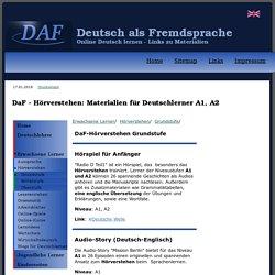 DaF - Hörverstehen: Materialien für Deutschlerner A1, A2