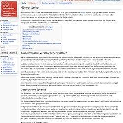 Hörverstehen – Wiki 99 Stichwörter