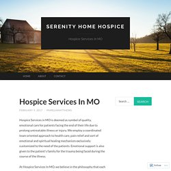 Hospice Services In MO
