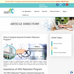 What is Hospital-Acquired Condition Reduction Program?