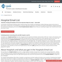 Hospitals Decision Makers Mailing Addresses
