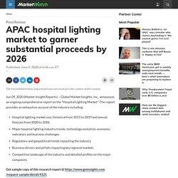 APAC hospital lighting market to garner substantial proceeds by 2026