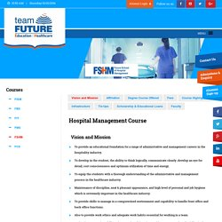 Best Hospital Management College in Kolkata - Team Future