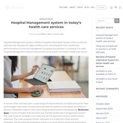 Hospital Management system in today's health care services