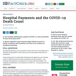 Hospital Payments and the COVID-19 Death Count