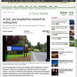 At last, one hospital has slashed its waiting lists
