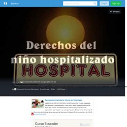 Curso Educador Hospitalario (with images, tweet) · Animacion
