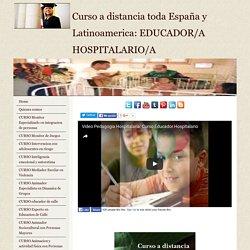 Curso educador hospitalario (pedagogia hospitalaria)