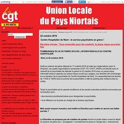 Centre Hospitalier de Niort : le service psychiatrie en grève ! - La CGT dans le Pays Niortais