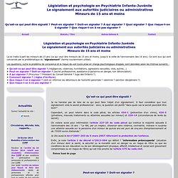 Le psychologue de la fonction publique hospitalière et le signalement aux autorités judiciaires ou administratives