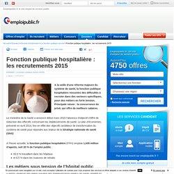 Fonction publique hospitalière : les recrutements 2015