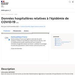 Données hospitalières relatives à l'épidémie de COVID-19
