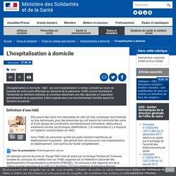 Hospitalisation à domicile-Ministère des Solidarités et de la santé-