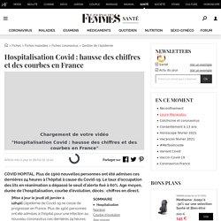 HospitalisationCovid: hausse des chiffres et des courbes en France